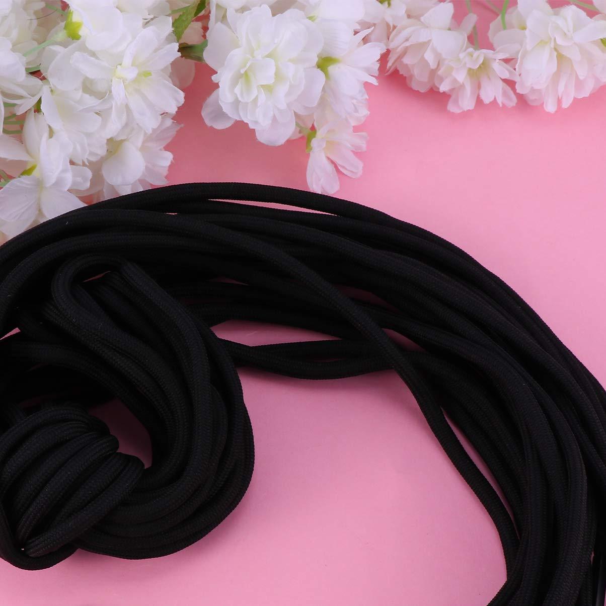 SUPVOX Cordones de cord/ón de repuesto de 10 piezas cordones negros cord/ón universal para pantalones de ch/ándal pantalones cortos chaquetas abrigos