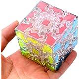 風の翼 - ギアキューブ3x3ニュータイプマジックキューブ、スピードギアキューブ教育パズルキューブ (トランスペアレント)