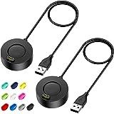 EZCO Charger Compatible with Garmin Vivoactive 3 4 4S/ Fenix 5 / Fenix 6 6S 6X / Venu Sq Music, 2 Pack 3.3 Ft USB…