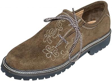 c4a5c19401e4 Dirndl Trachten Haus Leather German Embroidered Oktoberfest Lederhosen Shoe  8 Brown