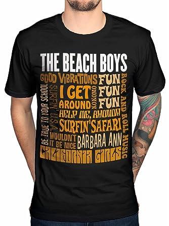 official the beach boys best of ss t shirt rock band merch amazon