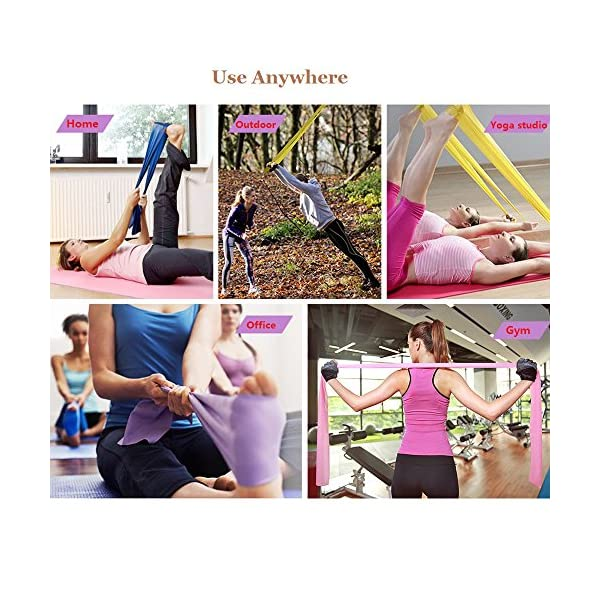 Resistance bands women set latex home gym fitness equipment for