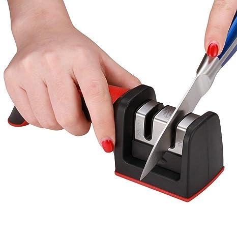 Amazon.com: Afilador de cuchillos de seguridad Cocina Vida ...