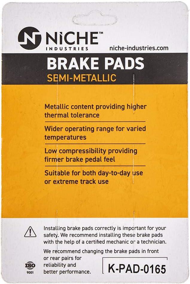 NICHE Brake Pad Set for Husqvarna WR 125 250 BMW F800S F650 F800GS F650GS F700GS KTM Triumph Front Rear Semi-Metallic