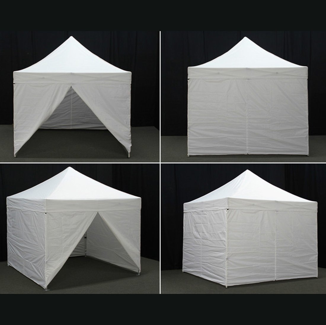 Amazon.com : Eurmax 10x10 Ez Pop up 4 Wall Canopy Instant Party Tent Portable Outdoor Canopy with 4 Removable Zipper End Side Walls with Carry Bag (Red) ...