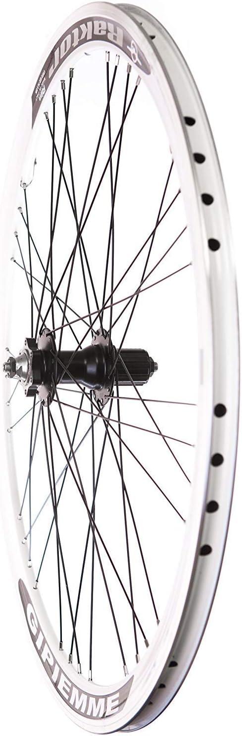 FireCloud Cycles RAKTOR 700c Rear Bike Bicycle Wheel 7 8 9 10 Speed Q//R DISC Cassette WHITE