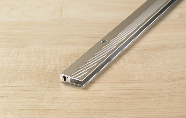 Proline Abschlussprofil PROCOVER Designfloor | fü r Bodenbelä ge mit einer Stä rke von 4-9mm, eloxiert, Edelstahl, 100cm