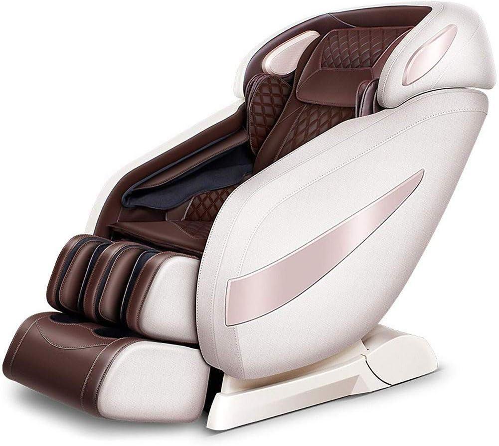 SISHUINIANHUA Sillón de Masaje sillas eléctricas Profesionales Relax Aire masajeador con Shiatsu, balanceo, vibración, Airbag, compresa Caliente/Gravedad Cero/Música Bluetooth,Marrón