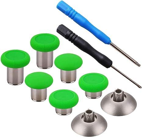 YoRHa 8 en 1 Metal magnético Thumbsticks Analog Sticks Joysticks Reparación de repuesto Kits(verde) para PS4/Slim/Pro & Xbox One/Elite/X/S Mando con Destornilladores: Amazon.es: Videojuegos