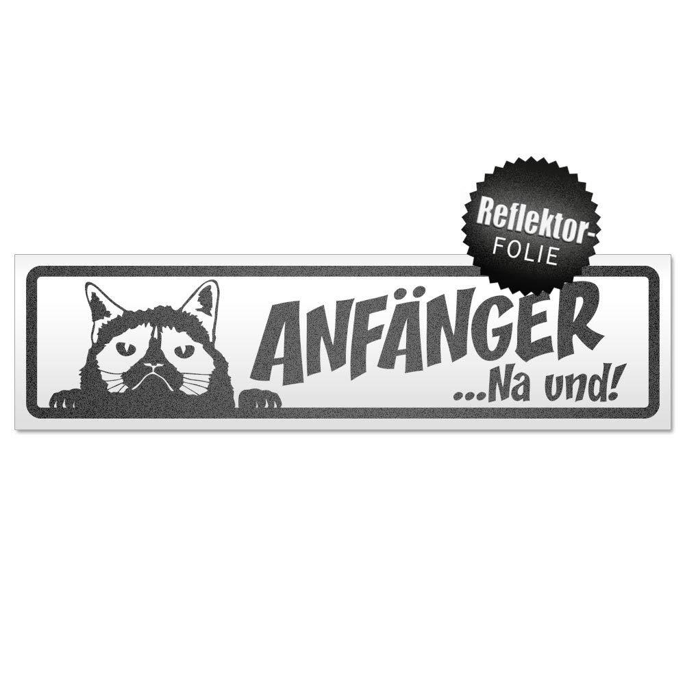 Kiwistar Anf/änger NA und Katze Magnetschild Schild magnetisch