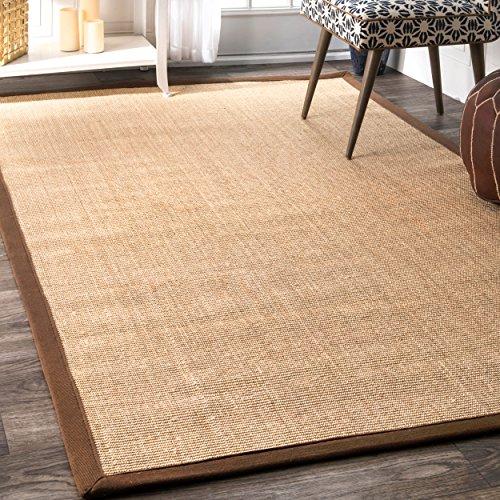 Large Sisal Rugs - nuLOOM Brown Machine Woven orsay sisal rug Area Rug, 9' x 12'