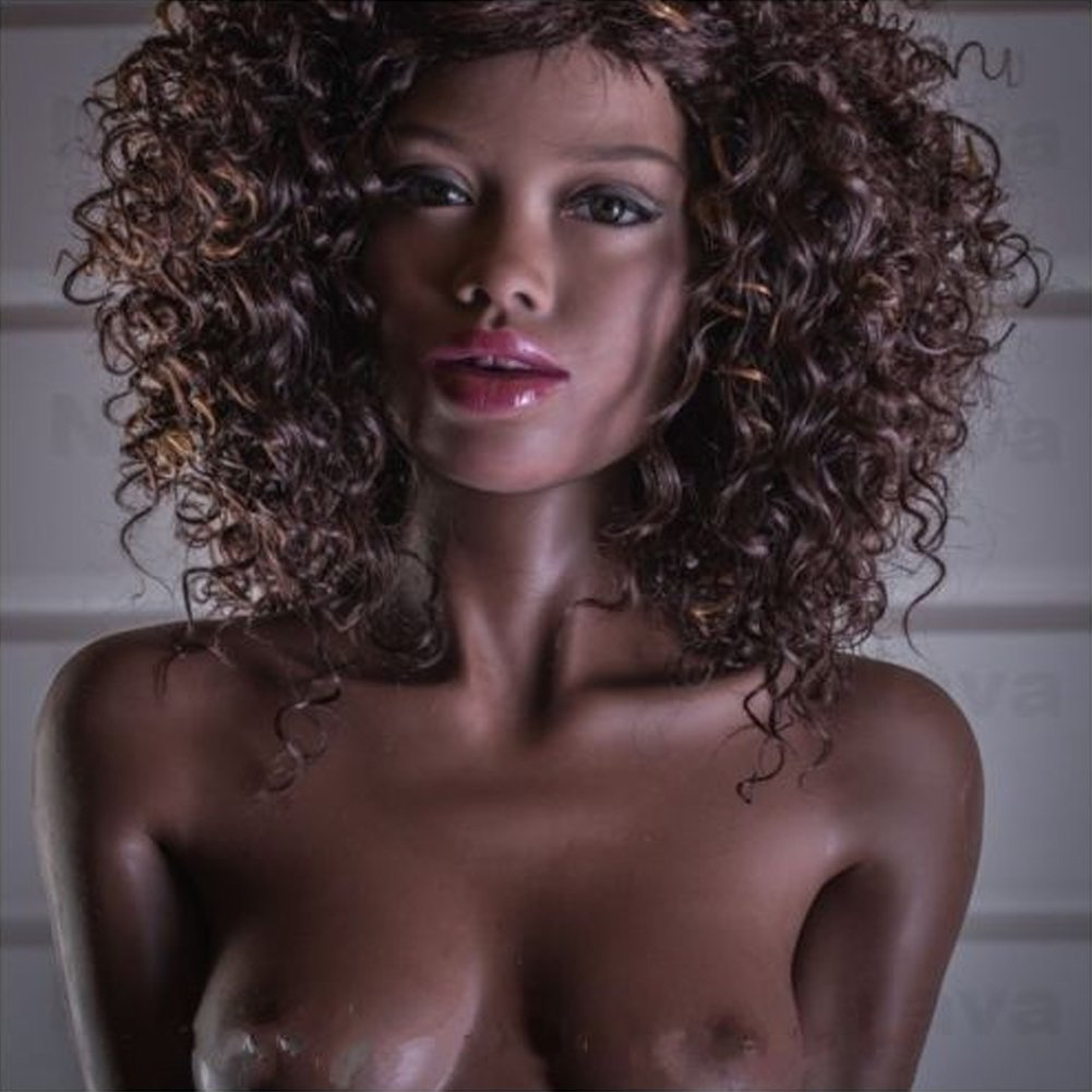 Black Skin Sex Doll Africa Girl 168cm/5.5ft Adult Male Masturbator Dolls For Men Oral Anal Vaginal Sex Toy Sexuality Sex Dolls (Stand up foot) by shengyi