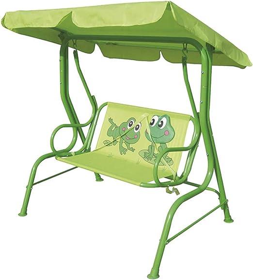 PEGANE - Balancín de jardín infantil rana con parasol (115 x 75 x 110 cm), color verde: Amazon.es: Hogar