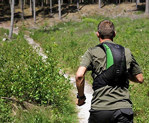 Nordisk Rana Ultraleichter Lauf Trailrunning Rucksack, 8 L, für Laufen, Trailrunning, Fahrrad, Outdoor, Sport, 290 g, Nylon Rip-Stop, packbar Grün
