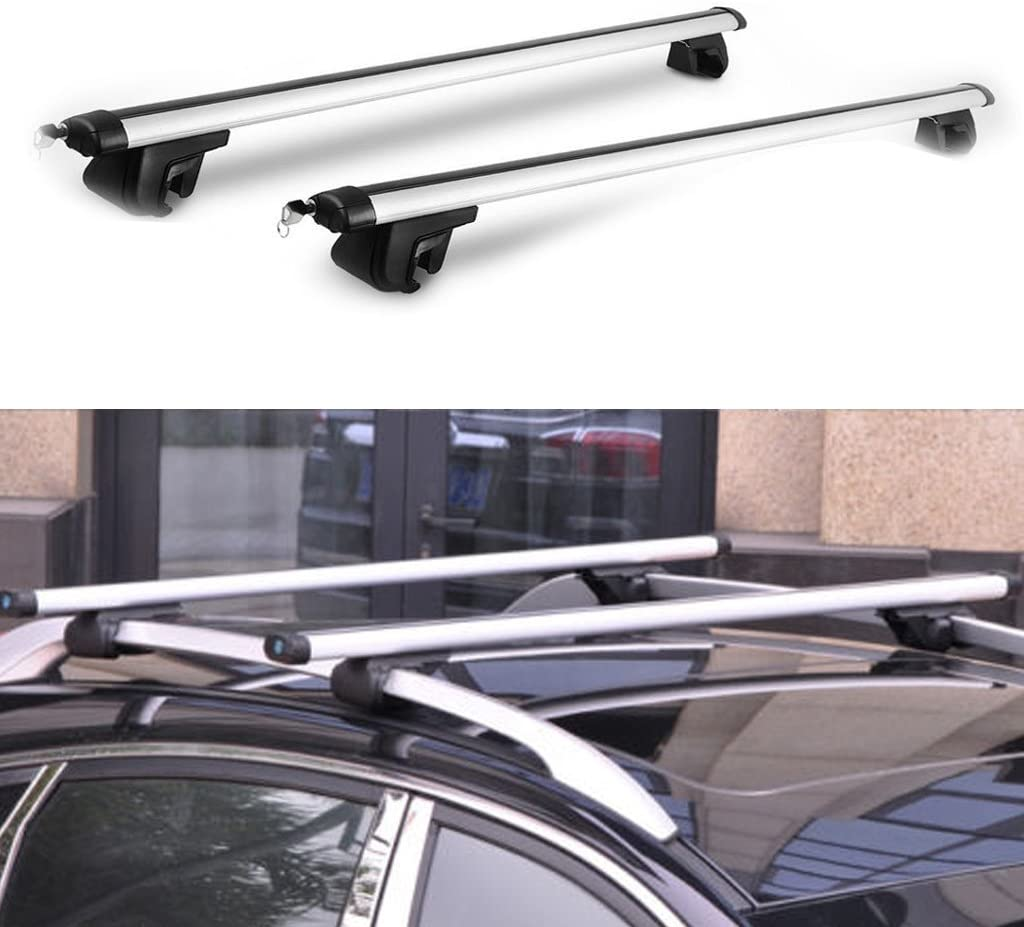 2017 New Universal 48 inch Car Top Luggage Cross Bars Luggage Cargo Carrier Roof Rack Locking Bar
