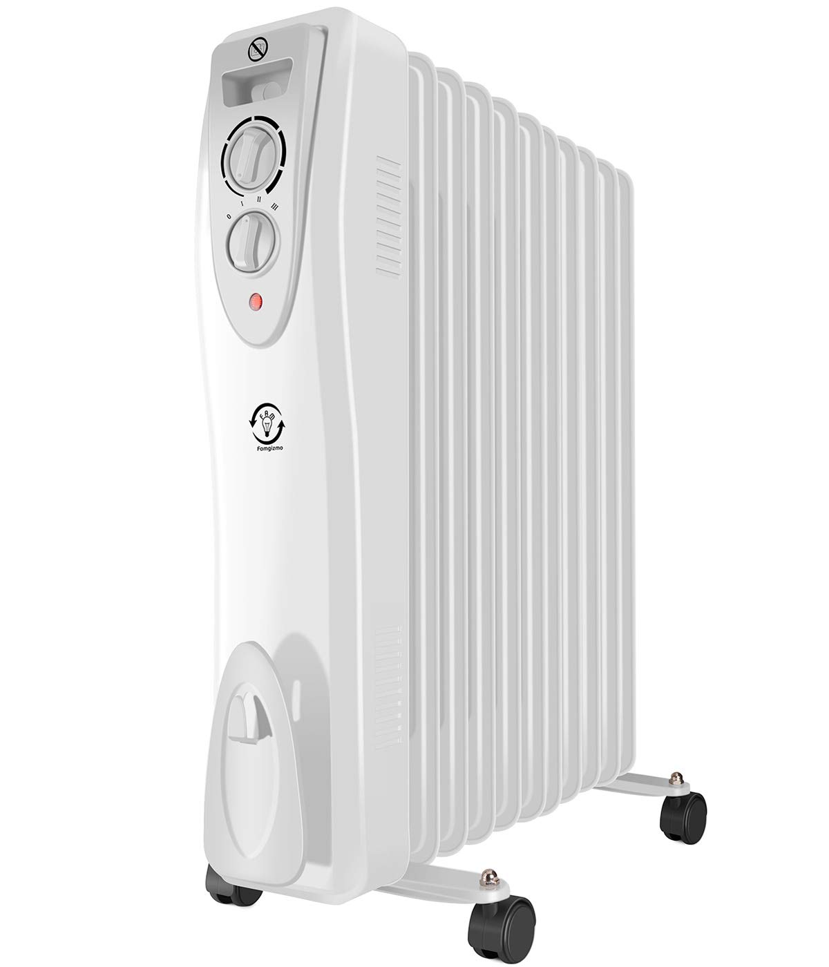MODERN LIFE 3kw 11 Fins Oil Filled Radiator Portable Electric Heater with Adjustable Thermostat, 3 Heat Settings, Thermal Safety Cut off and Overheat Protection