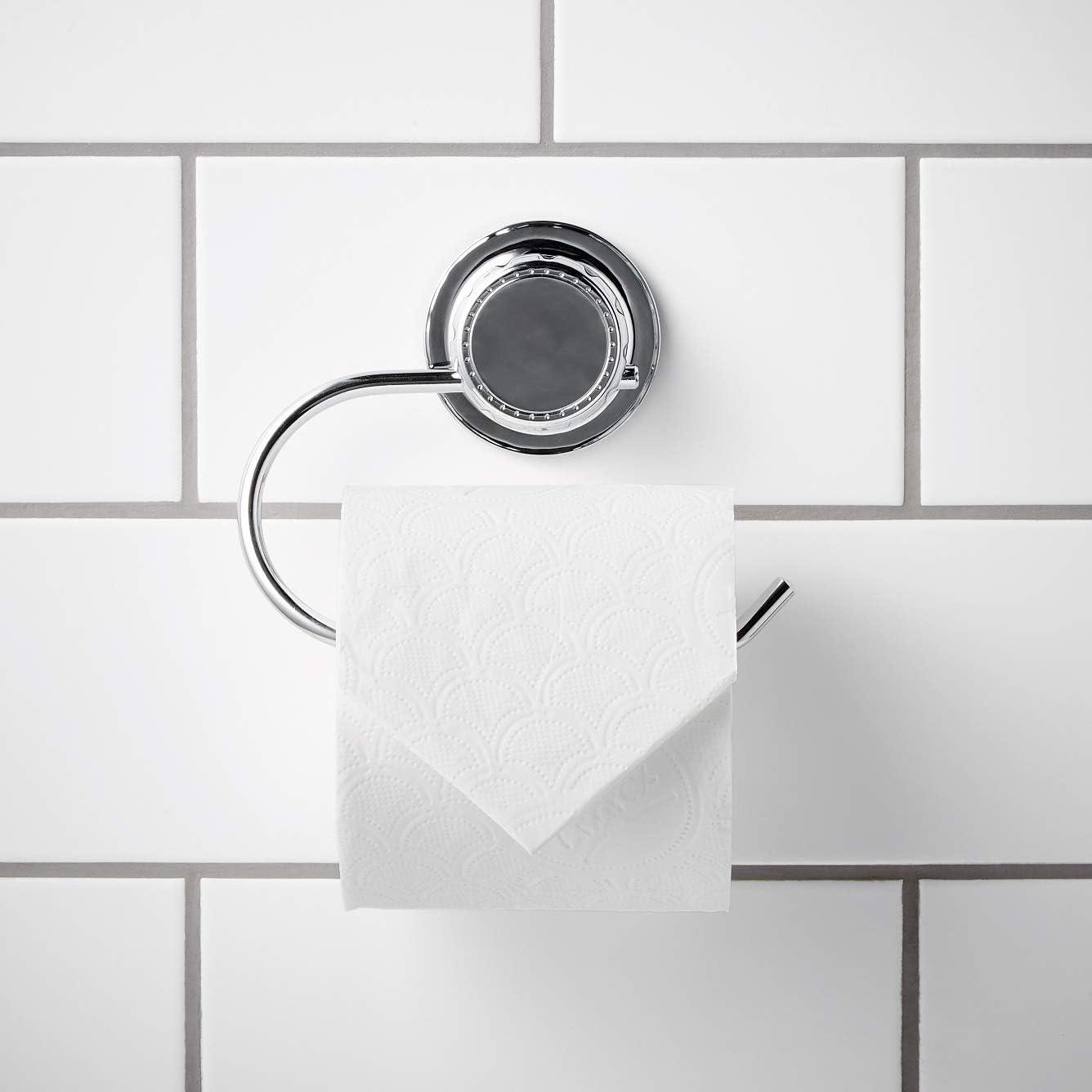 /À ventouse pour rouleau de papier toilette Chrome simplywire Distributeur de mouchoirs pour la salle de bain Antirouille
