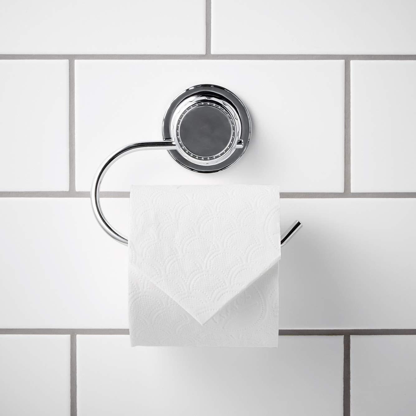 Soporte para toallas de ba/ño simplywire Resistente al /óxido Cromado Toallero ovalado con ventosa s/úper potente