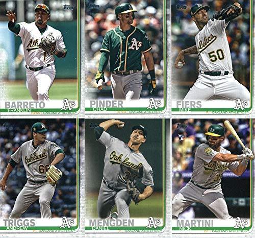 2019 Topps Series 2 Baseball Oakland Athletics Team Set of 10 Cards: Mike Fiers(#413), Franklin Barreto(#512), Chad Pinder(#524), Daniel Mengden(#553), Andrew Triggs(#565), Mark Canha(#612), Nick Martini(#618), Dustin Fowler(#630), Yusmeiro Petit(#637), Fernando Rodney(#692)