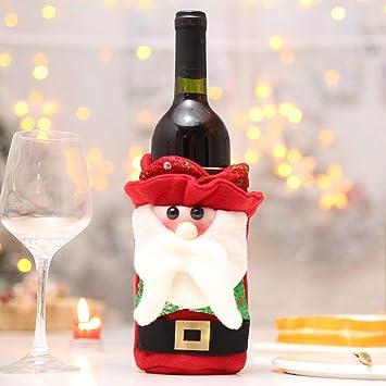 Bolsa para botellas de vino de Navidad, adorable botella de ...