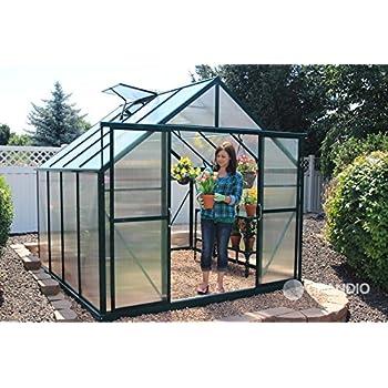 Amazon.com : Grandio Ascent 8x8 Greenhouse Kit - 6mm Twin