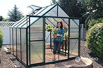 Grandio Ascent 8x8 Greenhouse Kit   6mm Twin Wall Polycarbonate