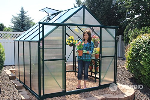 Grandio Ascent 8×8 Greenhouse Kit – 6mm Twin-Wall Polycarbonate