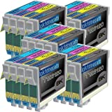 5 Pack of 4 New Remanufactured Epson 126 (High Capacity) Ink Cartridges Epson 126 T126120 T126220 T126320 T126420 for Epson 126 Black Cyan Magenta Yellow Set, Office Central