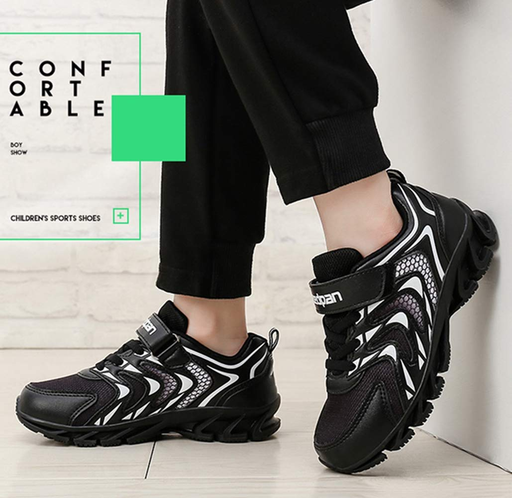 LGXH Comfy Boys Girls Basketball Shoes Breathable Non-Slip Youth Kids Sport Trail Running Sneakers