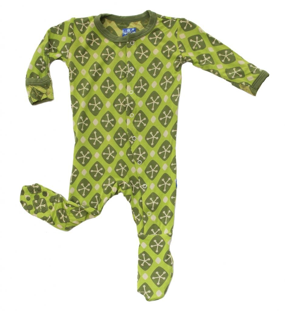 KicKee Pants Baby-Boys Printed Footed Coverall 843791