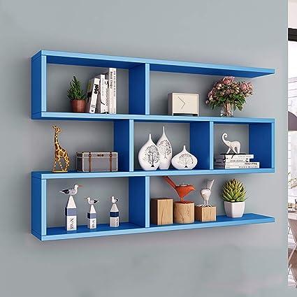 LJWLCH Rosa estantería Azul Dormitorio Infantil decoración de ...