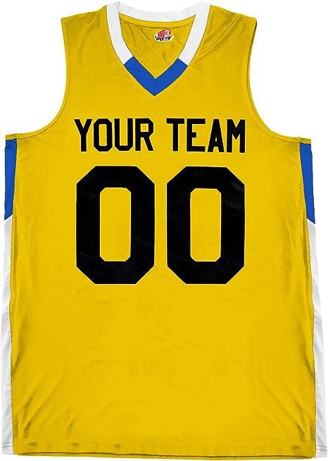 Amazon.com: Camiseta de baloncesto con 2 colores, cuello en ...