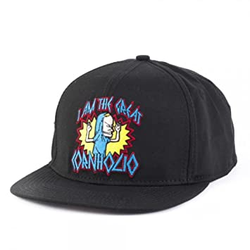 Beavis   Butthead Cornholio Mens Black Snapback Baseball Cap Hat   Amazon.co.uk  Toys   Games 8342160c5f2