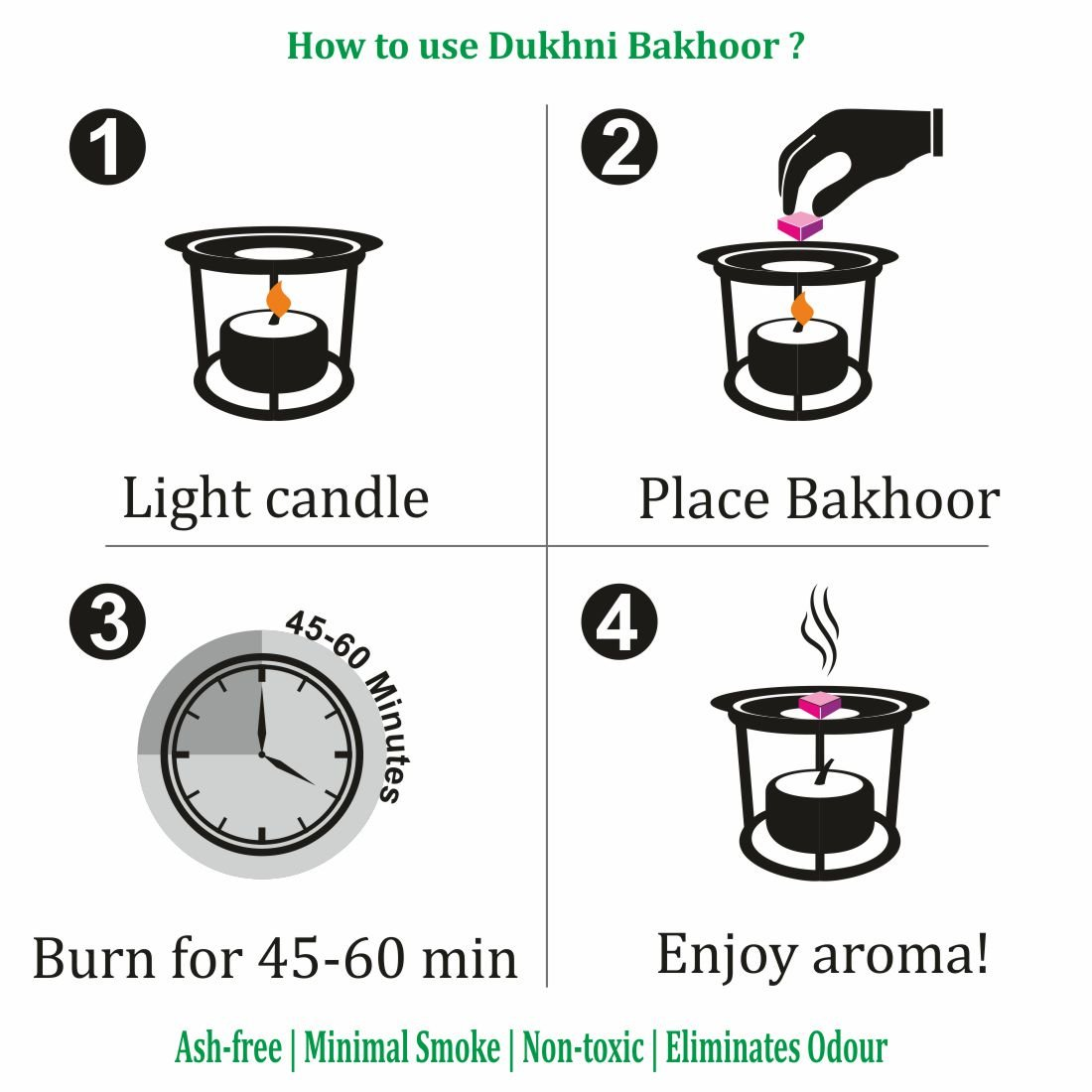 Dukhni Oud Bakhoor Incense Variety Box & Rainbow Bakhoor Burner - Gift Set & Starter Kit by Dukhni (Image #3)