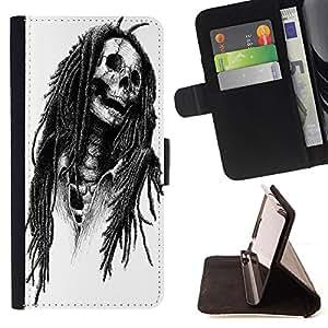 - Skull Devil Pattern Sugar Skull Skulls - - Style PU Leather Case Wallet Flip Stand Flap Closure Cover FOR Samsung Galaxy Core Prime - Devil Case -