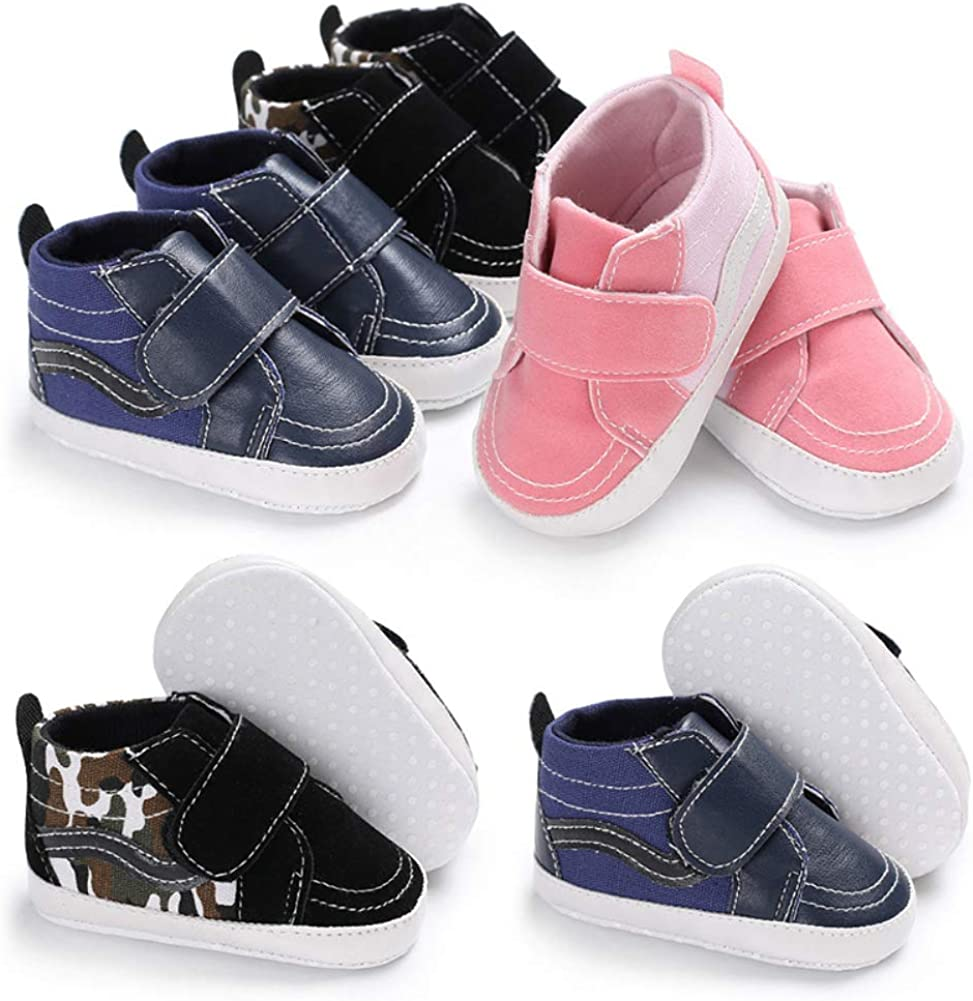 Blue 9-11M Baby Infants Toddler Autumn Thickening Soft Sole Canvas Shoes Sneakers Prewalker Easy to Wear for Indoor Outdoor Light Sports