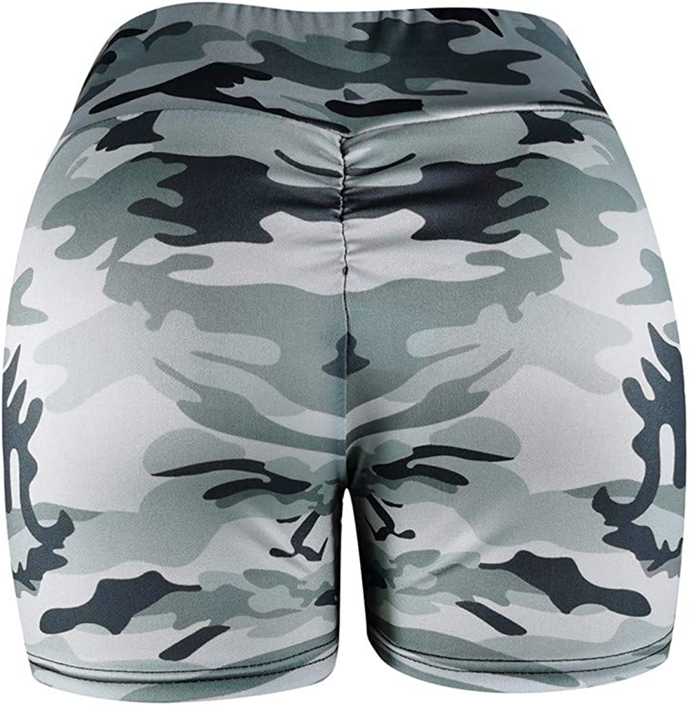 iFOMO Womens High Waisted Bike Shorts Active Shorts for Home Workout
