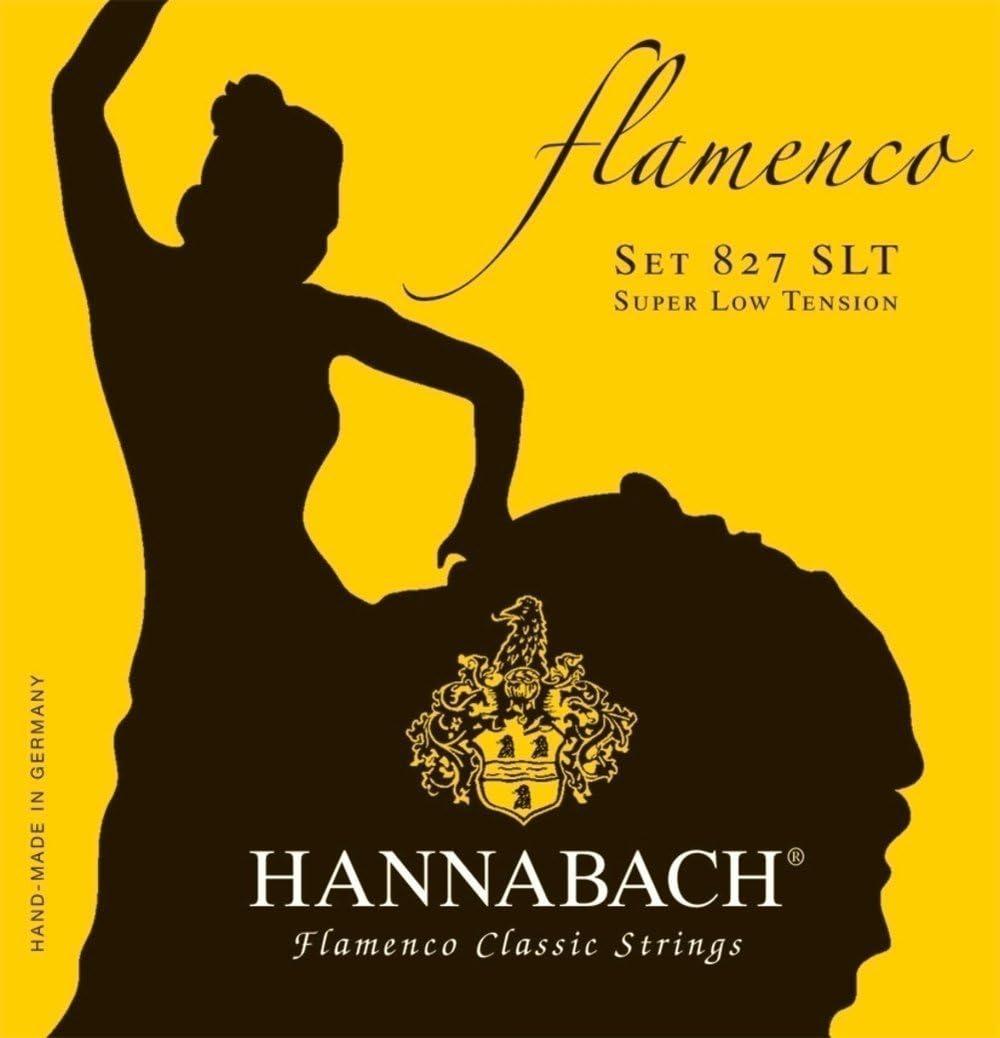 Hannabach Cuerdas para Guitarra Clásica, Serie 827 Tensión Muy Bajo Flamenco Classic - juego 3 cuerdas agudas (Mi1+Si2+Sol3)