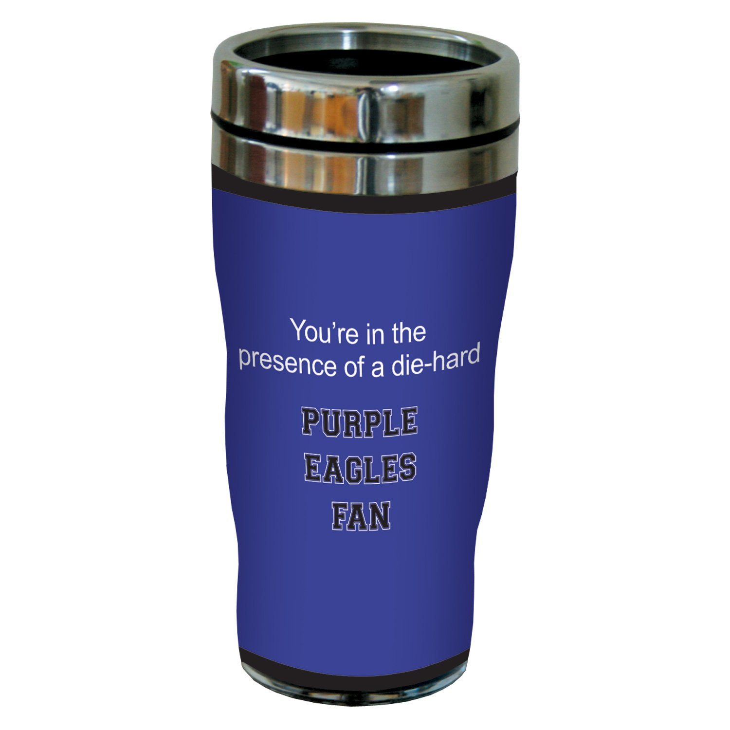 Tree-Free Greetings sg24810 Purple Eagles College Basketball Sip N Go Stainless Steel Lined Travel Tumbler 16 Ounce