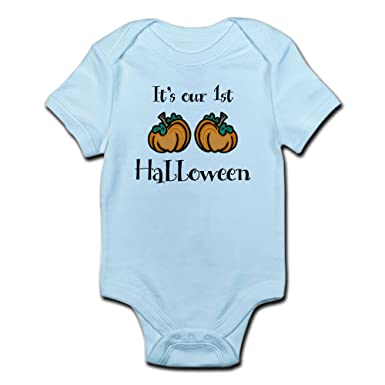 CafePress Our 1st Halloween - Infant Bodysuit Cute Infant Bodysuit Baby  Romper Sky Blue 5e11e0894