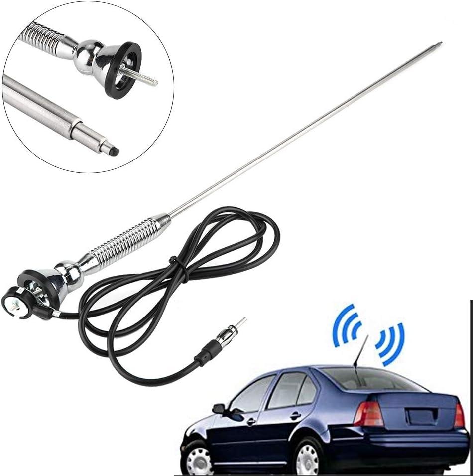 Akozon Antenna 18.5 Universal Car Roof Fender Radio AM//FM Aerial Antenna 180/°Swivel