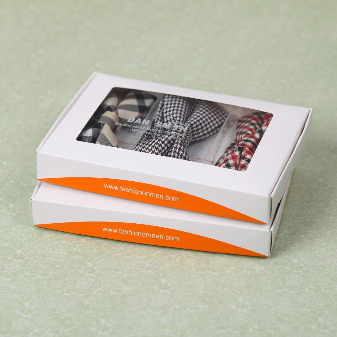 DBE0167 Groomsmen Pre-Tied Microfiber Bow ties Popular For Teen 3 Pack Bow Tie Set By Dan Smith