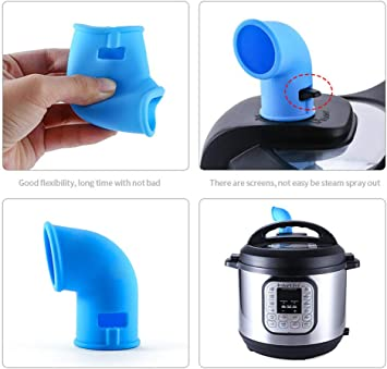 Pressure Cooker Accessories KeepingcooX Steam Diverter Pressure Release Valve Compatible with Instant Pots Duo//Ultra//Smart//Nova//Viva Models 2 Pcs for 5//6//8 Qt InstaPot Shoot Steam Where you want