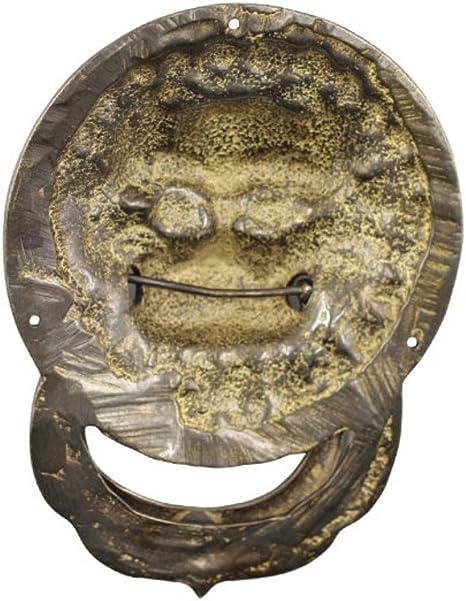 Perilla de la puerta,Antiguos chinos aldab/ón Manija cobre Pomo de la puerta de bestia Antiguo picaporte Antiguo mango Manijas de muebles Hardware Manija de puerta-A