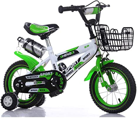 MYMGG Bicicleta para niños con Rueda Auxiliar 12 (14,16,18) Pulgadas Asiento y asa Ajustables Bicicletas Infantiles: Amazon.es: Deportes y aire libre