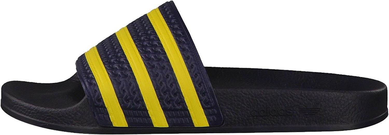 adidas Originales Adilette, Verde Negro Legend Ink S10 Rhythm Yellow S14