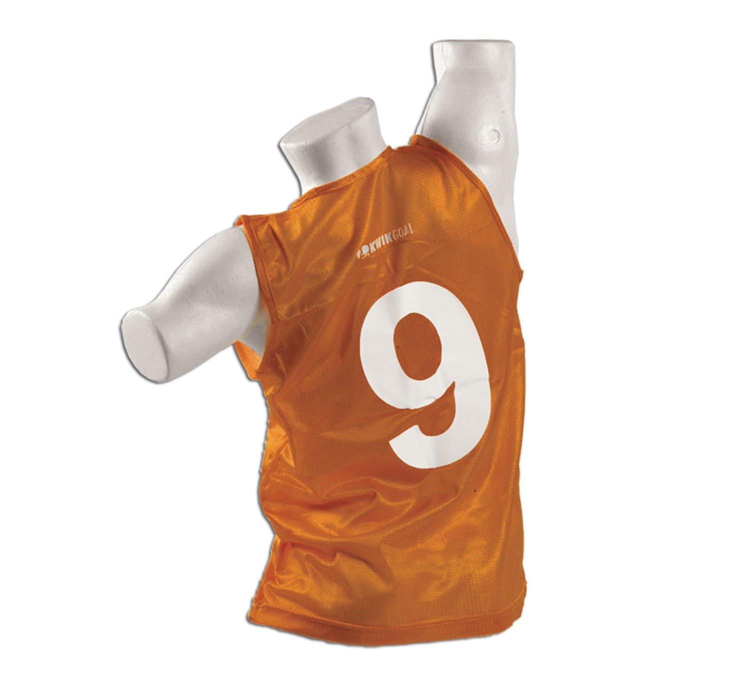 Kwik Goal Adult 1-50 Numbered Vests, Orange by Kwik Goal (Image #1)