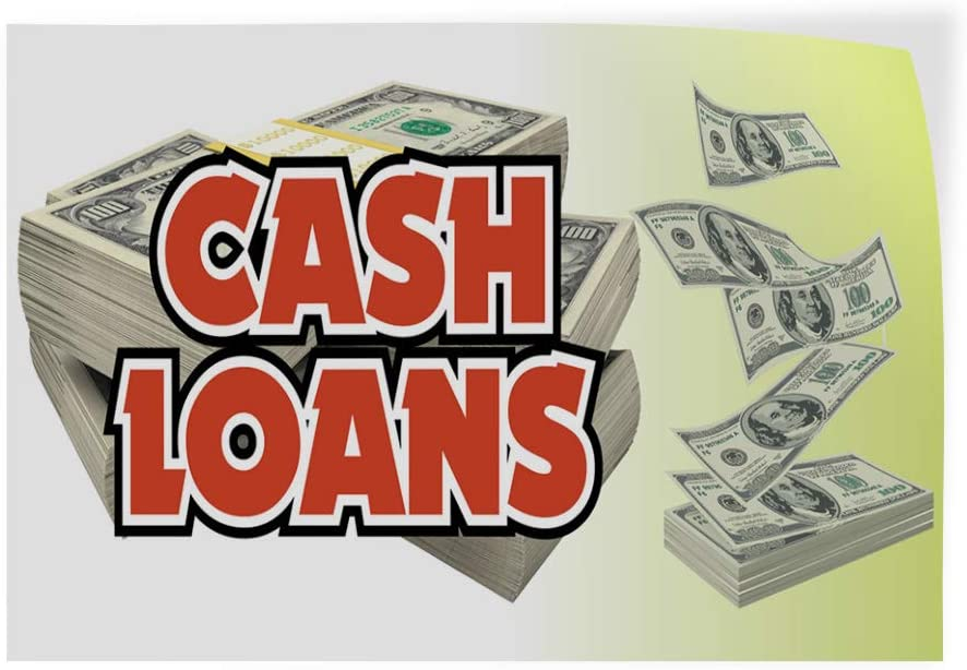 14inx10in Decal Sticker Multiple Sizes Cash Loans Business Business Cash Loans Outdoor Store Sign White Set of 10