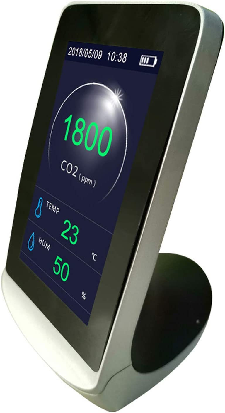 VISLONE CO2 Messger/ät 4,3-Zoll Kohlendioxid CO2-Detektor Thermometer und Hygrometer-Luftqualit/ätsanalysator-Monitor mit Digital-LCD-Anzeige,Multifunktionales professionelles Luftqualit/ät Messger/ät