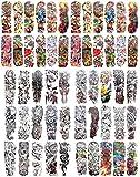 50 sheets wholesale extra large full arm sleeve tattoo 18'' extra large body art
